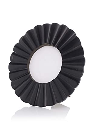 Purva Black Horn Frame, Round, 4 by 4 Inch