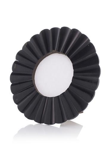 Purva Black Horn Round Scallop Frame, 4