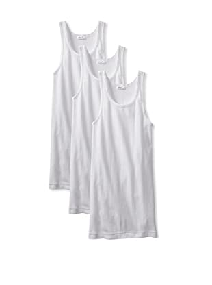 2(X)ist Men's Cotton Athletic Tank (Pack of 3) (White)