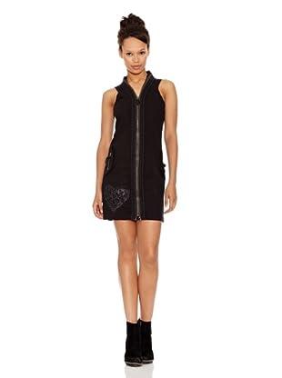 Desigual Vestido Namin (Negro Estampado)