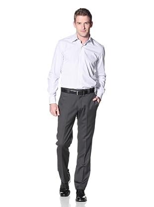 Incotex Ivory Men's Sharkskin Trousers (Charcoal)