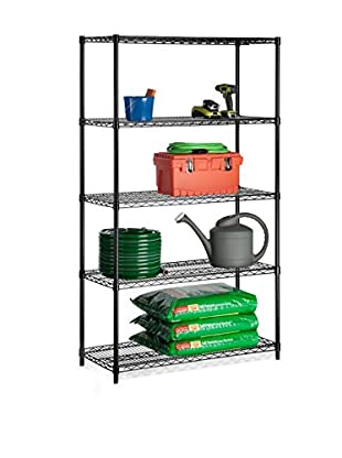 Honey-Can-Do 5-Tier Storage Shelves, Black