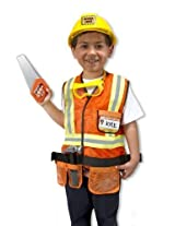 Melissa & Doug - Construction Worker Role Play Costume Set