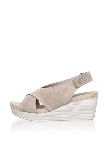 Gunmetal Women's Megan Wedge Sandal (Taupe)