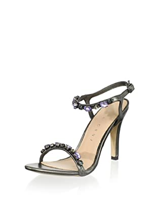 Lola Cruz Women's High Heel Jeweled Sandal (Plomo)