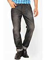 Washed Grey Slim Fit Jeans