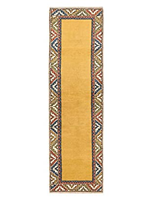 Hand-Knotted Anatolian Wool Rug, Light Gold, 2' 9
