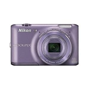 Nikon Coolpix S6400 16.0MP Point-and-Shoot Digital Camera (Purple) with Memory Card, Camera Pouch, HDMI Cable