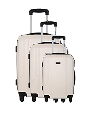 RENOMA Set de 3 trolleys rígidos Luchini Beige