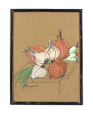 Uptown Down 1970 Framed Vegetable Art