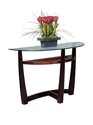 Bassett Mirror Company Elation Console Table, Copper/Espresso