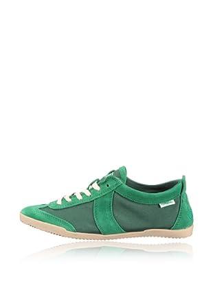 Buffalo London Zapatillas Textil Suede (Verde)