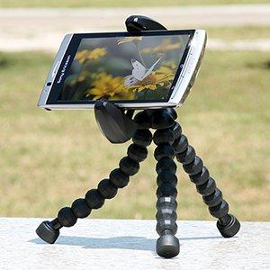 サンワダイレクト iPhone スマートフォン三脚 ブラック 200-CAM013BK