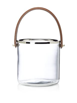 Barclay Butera Equestrian Ice Bucket with Leather Handle (Clear)