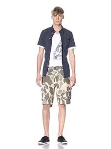 J.C. Rags Men's Camo Cargo Shorts (Khaki)