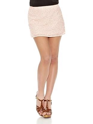 Springfield Falda Sequin Skirt (Rosa / Crudo)
