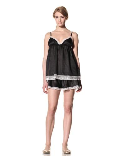 Toute la Nuit Women's Backless Top (Black/Blush)