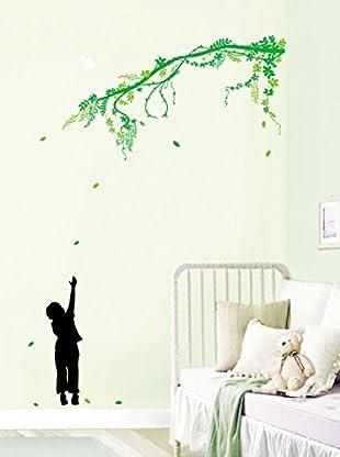 Ambiance Live Wandtattoo Children and tree mehrfarbig