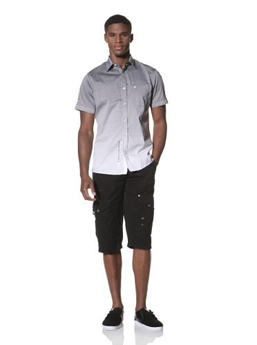 Projek Raw Men's Short Sleeve Woven Shirt (Grey)