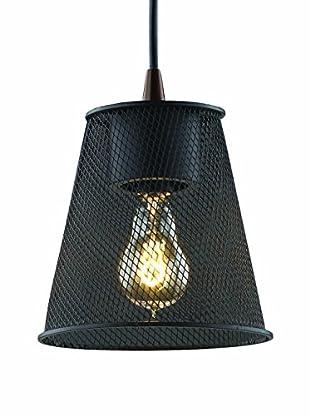 Justice Design Group Wire Mesh 1-Light Cone Mini Pendant, Matte Black