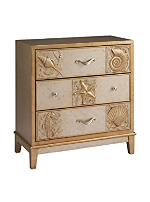 Coast to Coast 3-Drawer Chest, Gold/Champagne