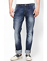 Washed Blue Slim Fit Jeans Web Jeans