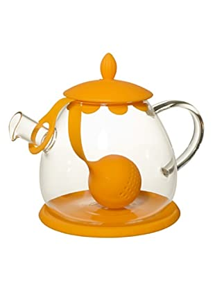 Cayos Company Teiera con Tea Ball Arancio 12 cm