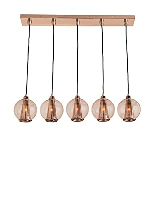 Arteriors Home Caviar Rose Gold/Rose Glass Fixed Linear Pendant