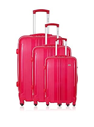 Travel ONE Set de 3 trolleys rígidos Barnley Fucsia