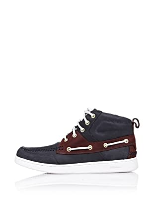 Sebago Zapato Botines Con Pasalazos (Azul)