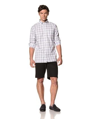 Bobby Jones Men's Quad Plaid Button-Down Shirt (Harbor Blue)