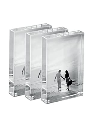 Torre & Tagus Set of 3 Block Frames, Clear, 4