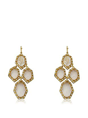 Riccova City Lights Faceted Glass Cluster Earrings, Gold