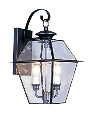 Crestwood Walden 2-Light Wall Lantern, Black