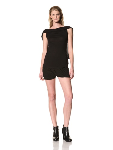 RICK OWENS Women's Sleeveless Draped Back Top (Black)