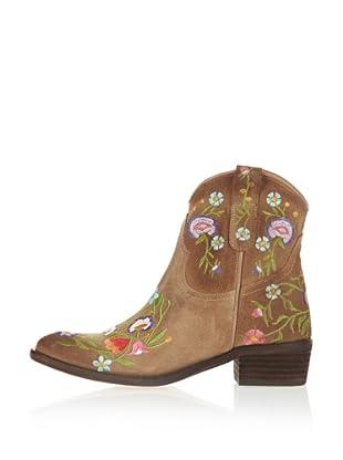 Buffalo London 101 JARANA 138293 - Botines fashion de cuero para mujer (Marrón)