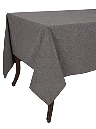 KAF Home Chambray Tablecloth, Black, 70
