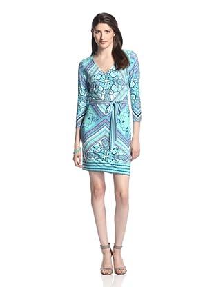 Ali Ro Women's Jeffie V-Neck Dress (Dungaree)