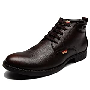 Lee Cooper Brown Men Pure Leather - Boots