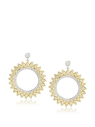 Cubic Zirconia by Kenneth Jay Lane Sunburst Earrings