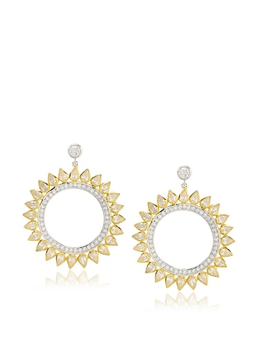 CZ by Kenneth Jay Lane Sunburst Earrings