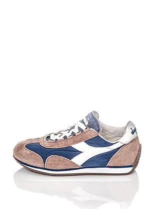 Diadora Heritage Zapatillas Equipe Stone Wash (Azul / Blanco / Marrón)