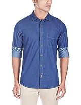 United Colors of Benetton Men's Casual Shirt (8903975012967_15A5AC66U008I901M_Medium_Blue)
