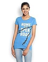Wolfpack Women's Round Neck Cotton T-Shirt