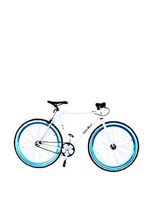 Galaxie Fixed Gear Bike, White/Metallic Blue, 54cm