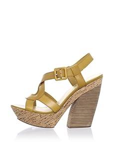 Luxury Rebel Women's Belise Wedge Sandal (Mustard)