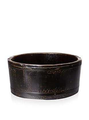 Royola Pacific Short Round Wooden Bucket (Black)