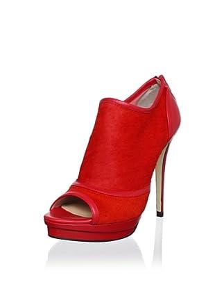 Jerome C. Rousseau Women's Elli Peep-Toe Bootie (Red)