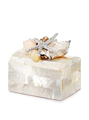 Isabella Adams Sea Shell Keepsake Ring Box, Mother-of-Pearl