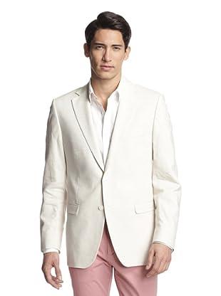 Simon Spurr Men's Solid Notch Lapel Sportcoat (Ivory)